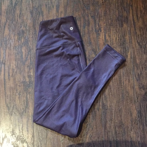 Reflex Pants - Shiny purple leggings
